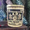 Vintage lard can tin Evans Gallipolis Ohio