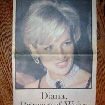 Newspaper of Princess Diana - Advertising