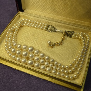 Pearl Necklace from my Great-Grandma