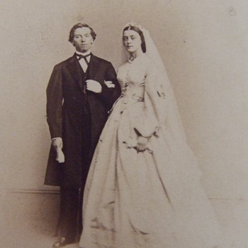 The Newlywed couple from 1864 - Photographs