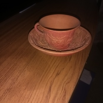 W S & S, Wilhelm Schiller, Earthen ware cup and saucer, proper antique 1800s.