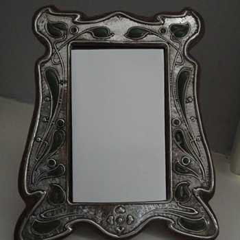 Art nouveau silver and enamel picture frame by Charles S Green & Co, Birmingham c. 1900 - Silver