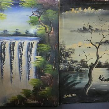 African Paintings signed Tshibanda - Fine Art