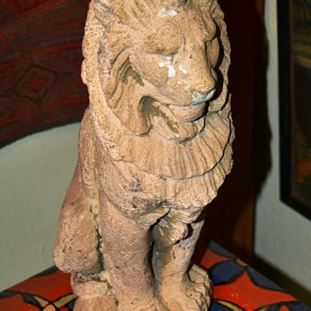 Late 19th c / early 20th c Advertising Lion for Northwest Tile Co., Chicago, IL - Animals
