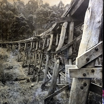 Puffing Billy Railway Trestle Bridge - Photographs
