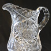 American Brilliant Cut Glass Pitcher Hobstar pattern