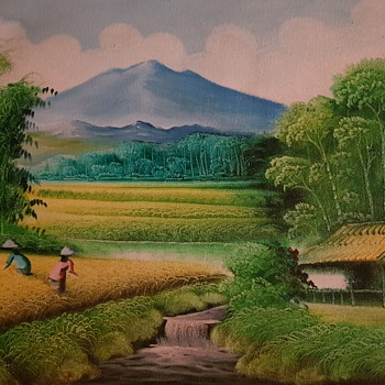 An oil painting of the paddies - Fine Art