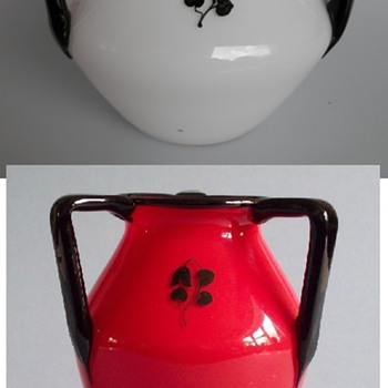 Loetz 3-handle enamels #3 - Art Glass