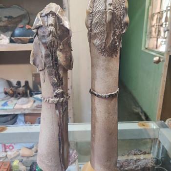 Stoneware figures - Pottery