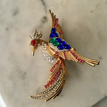 Pretty Phoenix bird - Costume Jewelry