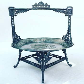 Victorian Meriden B. Co Ornate Basket