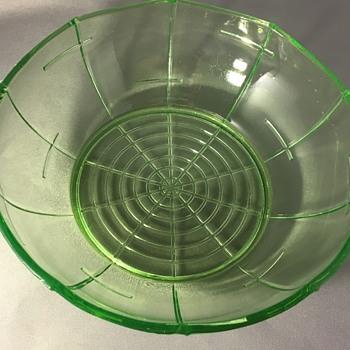 Vintage glass bowl  - Art Deco