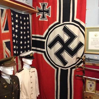 WWII German Kriegsmarine Navy National War Flag, Battle Flag - Military and Wartime
