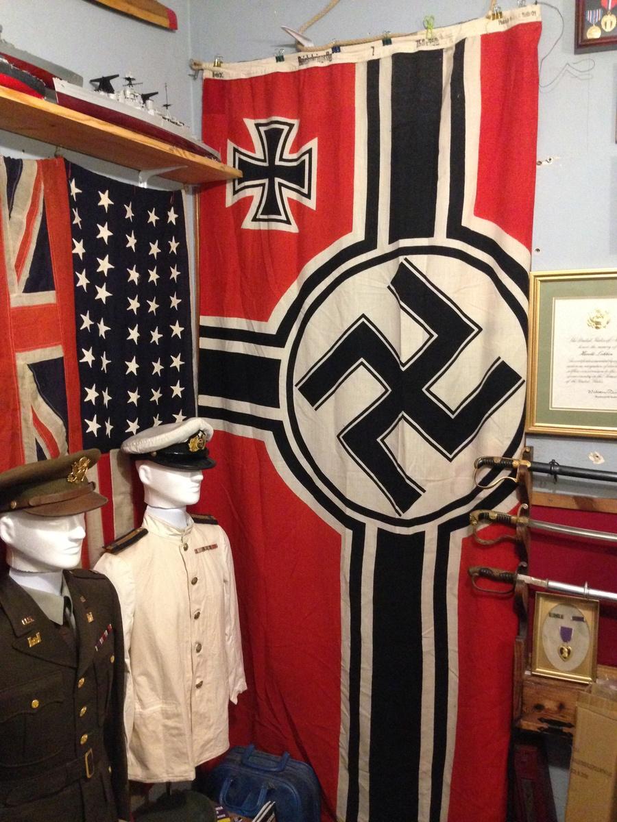 WWII German Kriegsmarine Navy National War Flag, Battle Flag