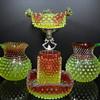 Hobbs Brockunier Rubina Verde Dewdrop Grouping