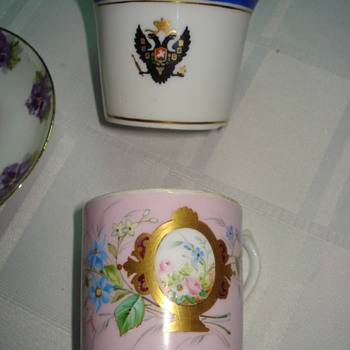 Two Russian Imperial Porcelain Factory cups without plates - China and Dinnerware