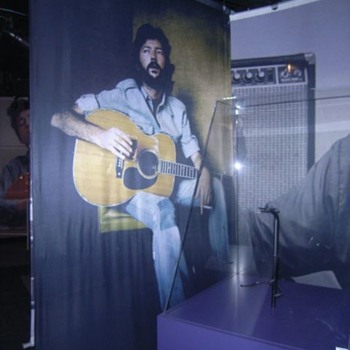 Eric Clapton Silkscreen  -   5.5 feet wide x 9 feet tall  - Music Memorabilia