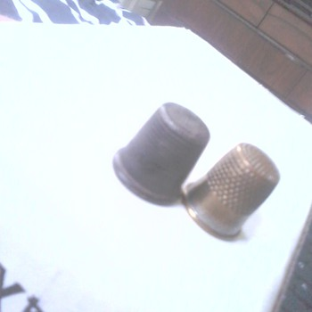 Thimbles - last two up for i.d. (bought a lot of six today...) - Sewing