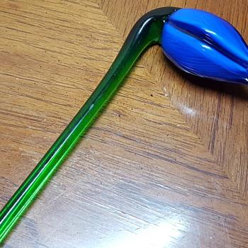 Blue Glass Flower - Art Glass