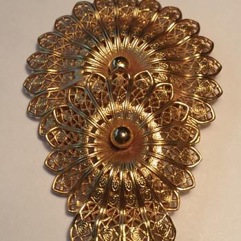 Vintage Dress Clip - Costume Jewelry