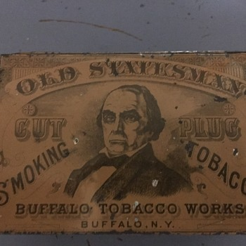 Old Statesman Tobacco Tin - Tobacciana