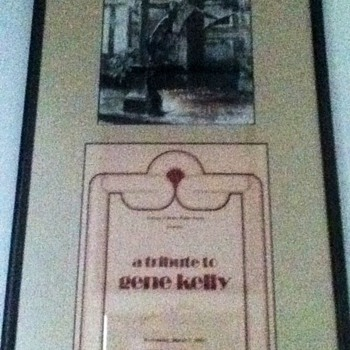 Autographed Gene Kelly Poster  - Movies