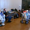 R2-D2 and Wall-E at Maker Faire