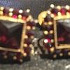 Favourite Garnet Square cut earring