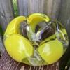 Japanese Yellow Ashtray Art Glass