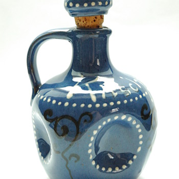 "art nouveau miniature liquor jug ""kirchenwasser"", by LEON ELCHINGER circa 1910 - Art Nouveau"