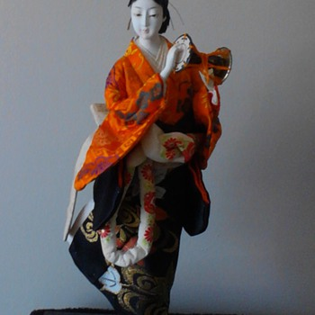 Non geisha doll with mage hairstyle of early Edo period. - Dolls