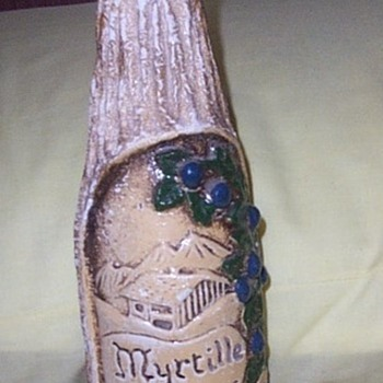 LIQUOR BOTTLE,14 INCH,HIGHLY DECORATED - Bottles