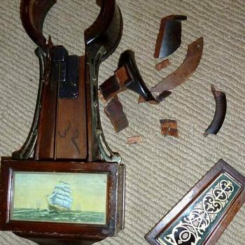 New Haven Miniature Time & Strike Banjo Clock  - Clocks