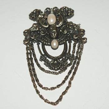 Danny Pollak Brooch - Costume Jewelry