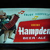 Hampden Beer-Ale 1950's Outside Advertising Sign