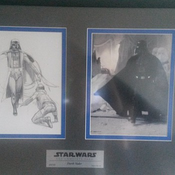 Framed limited art by Ralph McQuarrie