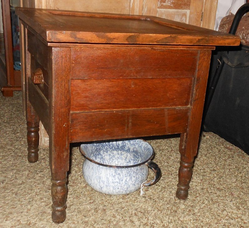 Antique Oak Commode ChairTable Collectors Weekly