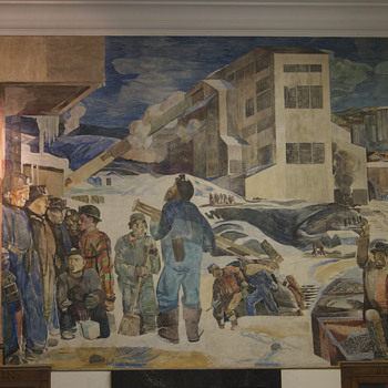 Kingston, PA Post Office WPA Mural - Fine Art