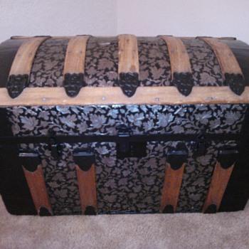 Restored Round Top Trunk - Furniture