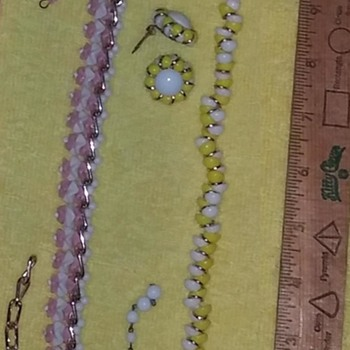 Yellow & Pink Necklace & Earring Sets