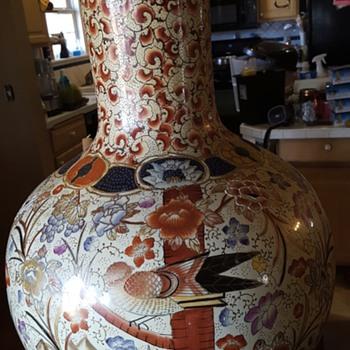 Beautiful large Asian bottle vase - Pottery