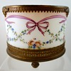 Enameled Milk Glass Powder Jar, Northern Bohemia, ca. 1790