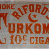 Rare Riford's Cigar Glass Sign