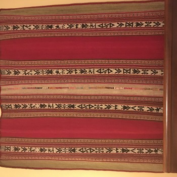 Large Peruvian Hand-Woven Wool Textile - Native American