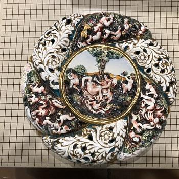 Capodimonte 650 Italy Plaque  - Pottery