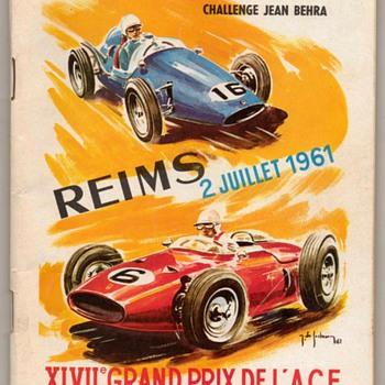 1961 - French Grand Prix Race Program