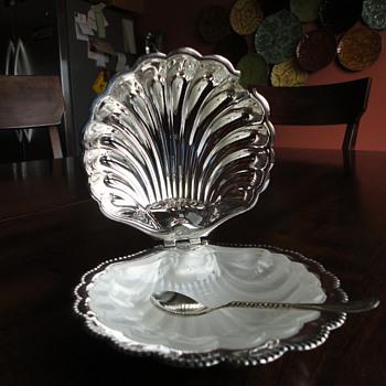 Caviar Dish from England - Flea Market Find - $10! - Silver