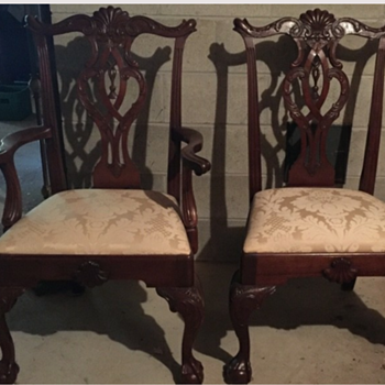 Chippendale Tassie Back Mahogany Chair