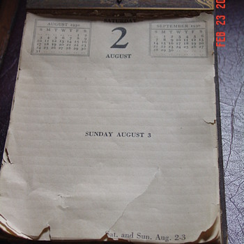 1930 Desk Calendar - Office