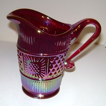 Fenton Carnival Glass Pitcher / Creamer - Sandwich